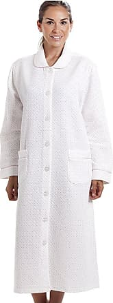 Camille Womens Supersoft House Coat with Dot Print 14-16 Pink
