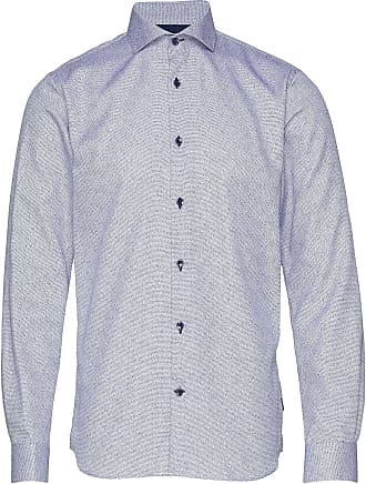 Trostol City Twill Blå Skjorte