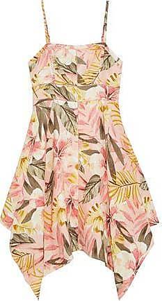 Joie Joie Woman Phara Asymmetric Floral-print Linen Dress Blush Size 4