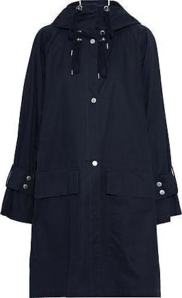 See By Chloé See By Chloé Woman Cotton-gabardine Hooded Coat Midnight Blue Size 36