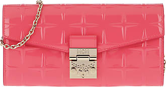 MCM Cross Body Bags - Patricia Diamond Patent Wallet Large Tea Berry - magenta - Cross Body Bags for ladies