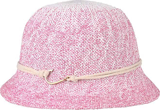 7debfb5e249763 Seeberger Nicole Twotone Cloche Straw Hat Women´s (One Size - Pink-Mottled