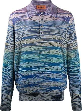 Missoni Camisa polo com listras - Azul