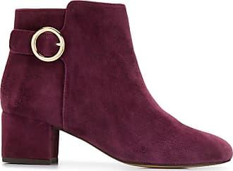 Tila March Ankle boot com detalhe de fivela - Roxo