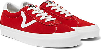 Vans Ua Style 73 Dx Leather-trimmed Suede Sneakers - Red
