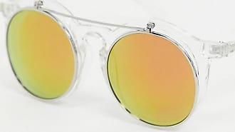 Jeepers Peepers Occhiali da sole rotondi trasparenti con clip-Azzera
