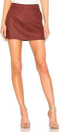 Tibi Canvas Mini Trouser Skirt in Red