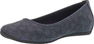 Easy Street Womens Cosmic Ballerina Slip-on with Cutouts Ballet Flat Navy 10 M US