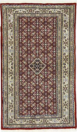 Nain Trading 121x71 Oriental Moud Rug Dark Grey/Beige (Wool/Silk, Iran/Persia, Hand-Knotted)