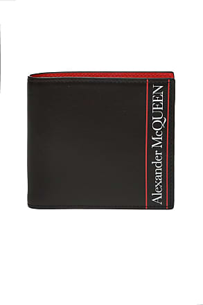 Alexander McQueen Bifold Wallet With Logo Mens Black