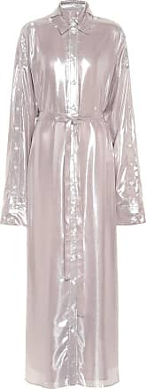 Y / Project Metallic maxi shirt dress