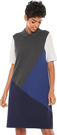 668d76d0d7e Lacoste Vestido Lacoste Curto Detalhe Botão Cinza Azul