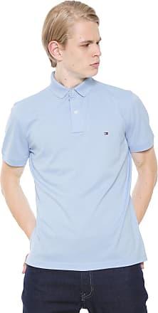 11563c24663 Tommy Hilfiger Camisa Polo Tommy Hilfiger Reta Logo Azul