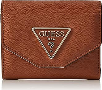 405a5ae58f Guess Maddy Slg Small Trifold, femme, Noir (Cognac), 13x11x3 cm (