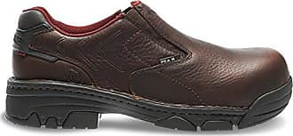 Wolverine Mens Falcon Slip-On Comp Toe EH Work Boot, Briar, 11 M US
