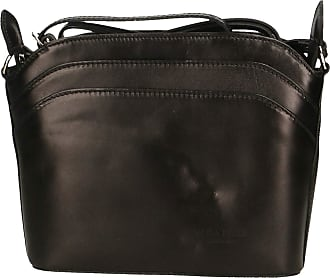 Chicca Borse Women Crossbody Shoulder Bag in Leather Made in Italy 22x19x7 Cm
