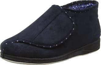 Padders Womens Cherish Hi-Top Slippers, Blue (Navy), 4 UK 37 EU