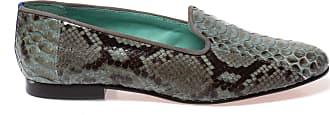 Blue Bird Loafer de Couro de Píton Cinza - Mulher - 35 BR