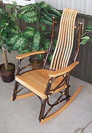 A & L Furniture A & L Furniture 2031 Hickory Rocker Chair, Natural Finish