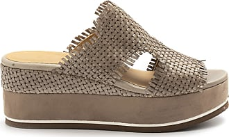 Zoe Mary Taupe Wedge Sandals in Braided Leather - Mary 054 Taupe Braided - Size Brown Size: 6 UK