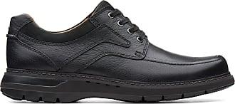 Clarks Mens Shoe Black Leather Clarks Un Ramble Lace Size 10.5
