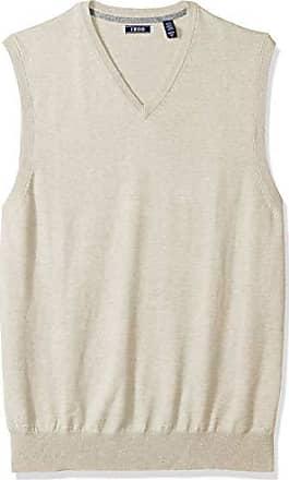 Izod Mens Big and Tall Premium Essentials Solid V-Neck 12 Gauge Sweater Vest, New Rock, Large