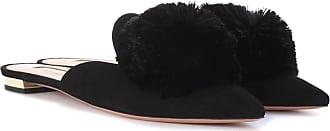 Aquazzura Powder Puff suede slippers