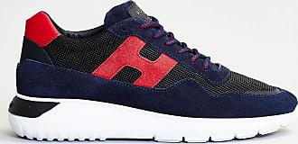 Hogan sneaker blu retro rosso