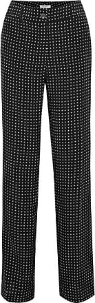 Equipment Lita Polka-dot Silk-twill Wide-leg Pants - Black