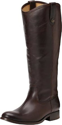 Frye Womens Melissa Button Boot, Dark Brown Wide Calf Smooth Vintage Leather, 11 M US