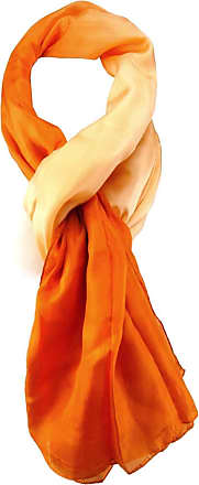 TigerTie Womens Plain Scarf Orange Orange One size