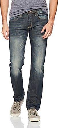 Buffalo David Bitton Mens Max-x Skinny Fit Denim Indigo Sanded Wash Jeans