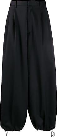Fumito Ganryu Calça cintura média com modelagem solta - Preto