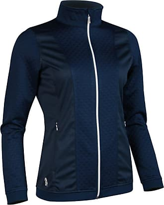 Glenmuir Ladies LF2583ZT Embossed Diamond Zip Front Performance Mid Layer Navy M