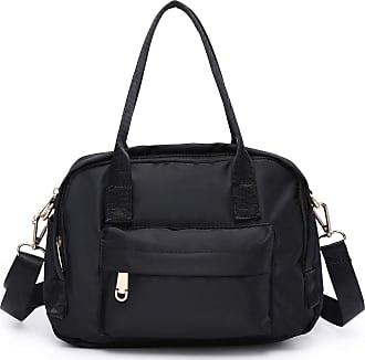 Craze London Womens Multi Pocket Shoulder Bag, Multi Purpose Waterproof Shoulder Bag With Long Shoulder Strap (Black)