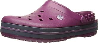 Crocs Unisex-Adults Crocband Clogs, Violet (Plum/Navy), 11 UK