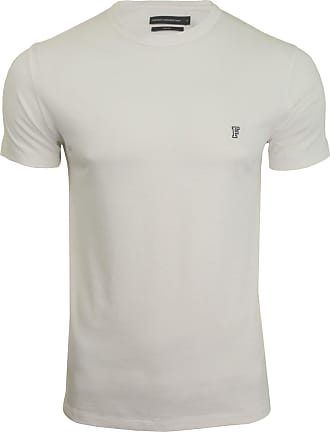 French Connection Mens T-Shirt - Short Sleeved (White/Marine) XXL