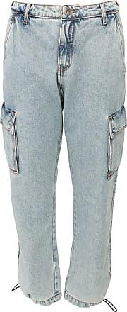 Triton Calça Jeans Triton Cargo Bolsos Azul
