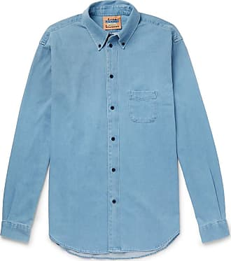 Acne Studios Seiji Oversized Button-down Collar Denim Shirt - Blue