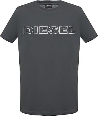 Diesel Logo-printed T-shirt Mens Grey