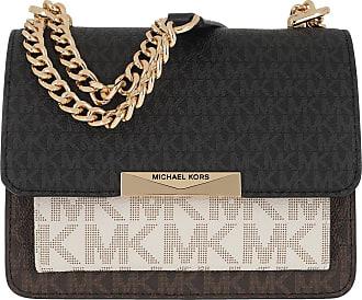 Michael Kors Jade XS Gusset Crossbody Bag Brown Multi