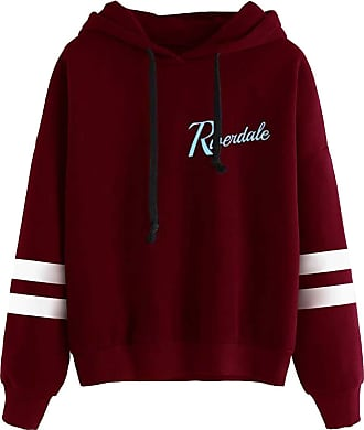 OLIPHEE Mens Long Sleeves Stripe Printed Hoodies Casual Pullover Inspired Riverdale Hoodie Jughead Jones Southside Serpents Jumper (UK XL(Tag Size 2XL), A-Win
