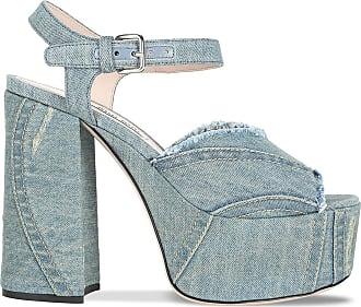 8e876adf5713 Miu Miu® Platform Heel Sandals − Sale  up to −58%