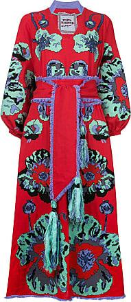 Yuliya Magdych Poppies embroidered kimono dress