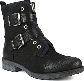 White Mountain Shoes SAN Diego Womens Boot, Black/Fabric, 11 M