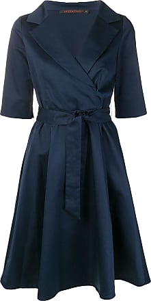 Incentive! Cashmere midi wrap dress - Azul