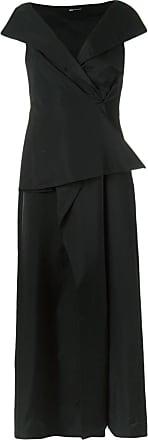 Uma Vestido longo drapeado - Preto