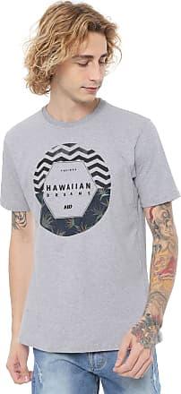 Hawaiian Dreams Camiseta HD Dark Floral Cinza