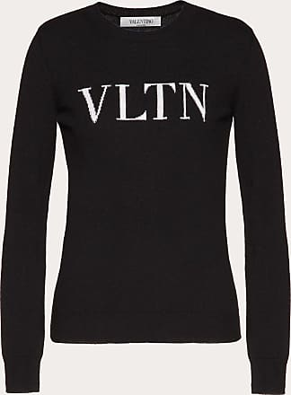 Valentino VLTN Intarsia Wool Sweater Jumper Navy Blue Cashmere Wool