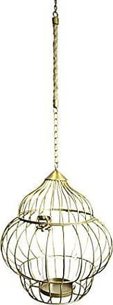 Sagebrook Home 10951 Metal Hanging Lantern, Gold Metal, 10 x 10 x 10.75 Inches
